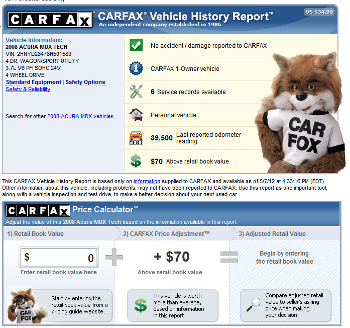How to Navigate the Carfax