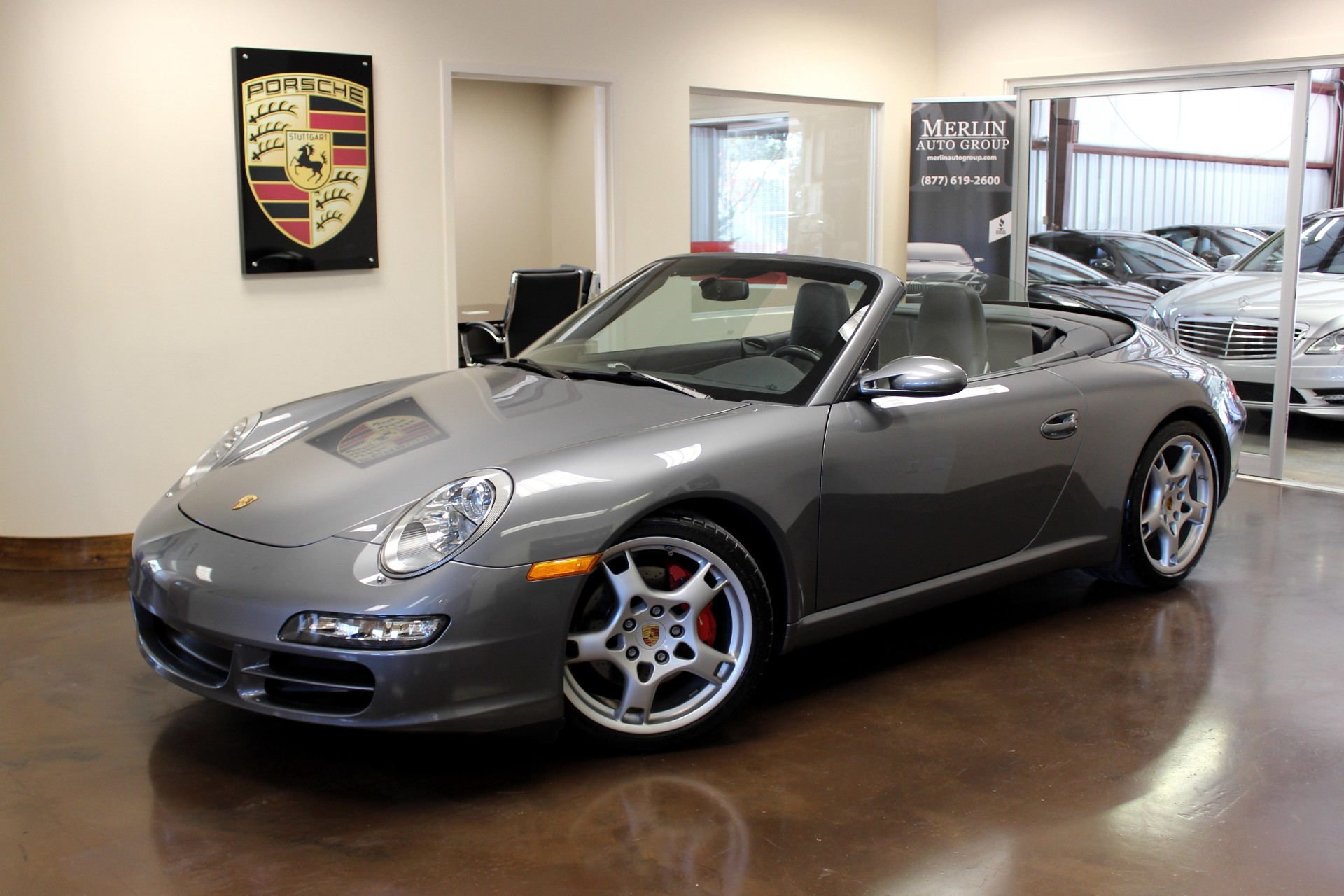 used 2006 porsche 911 stock p2950 ultra luxury car from merlin auto group. Black Bedroom Furniture Sets. Home Design Ideas