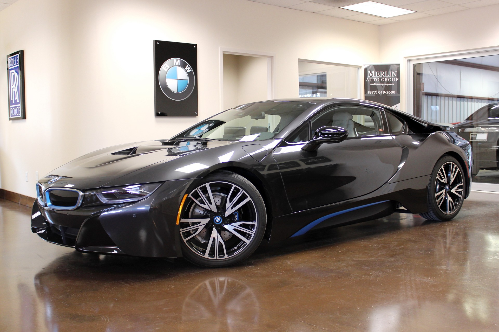 used 2015 bmw i8 stock p3009a ultra luxury car from merlin auto group. Black Bedroom Furniture Sets. Home Design Ideas