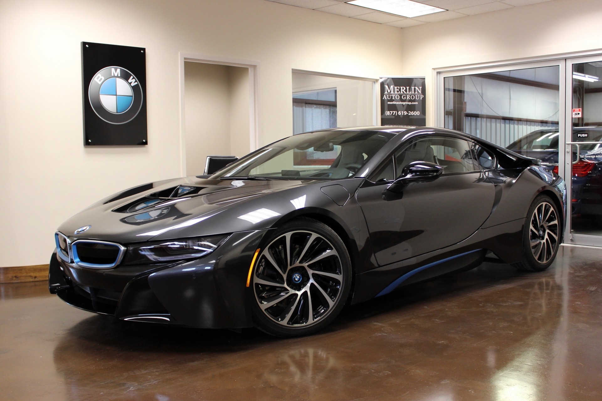 used 2015 bmw i8 stock pl05 ultra luxury car from merlin auto group. Black Bedroom Furniture Sets. Home Design Ideas