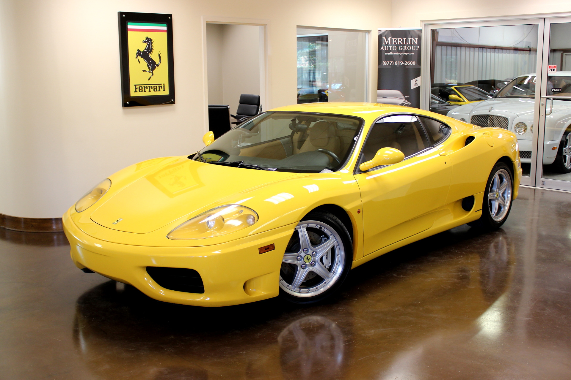 used 2000 ferrari 360 modena stock p3079 ultra luxury car from merlin auto group. Black Bedroom Furniture Sets. Home Design Ideas