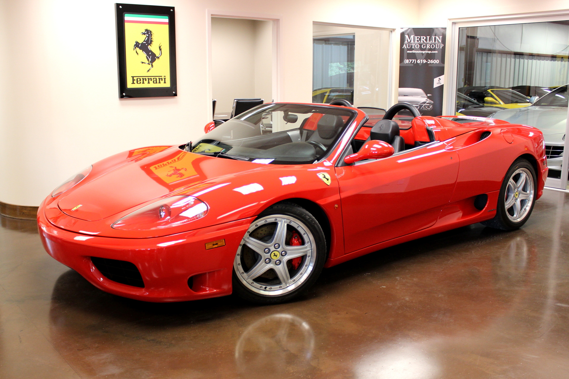 used 2004 ferrari 360 spider rosso corsa convertible v8 f1 manual leather used ferrari. Black Bedroom Furniture Sets. Home Design Ideas
