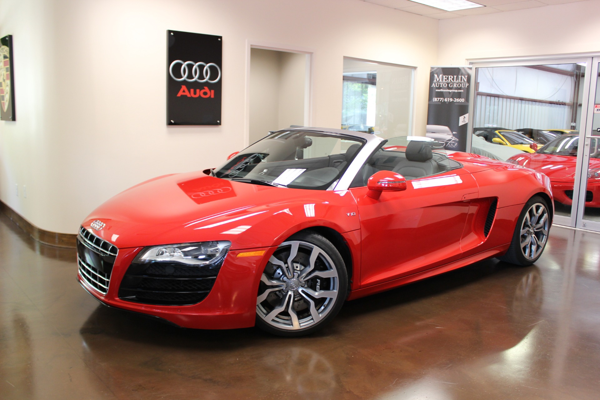 Used 2012 Audi R8 Brilliant Red Convertible V10 5 2l A