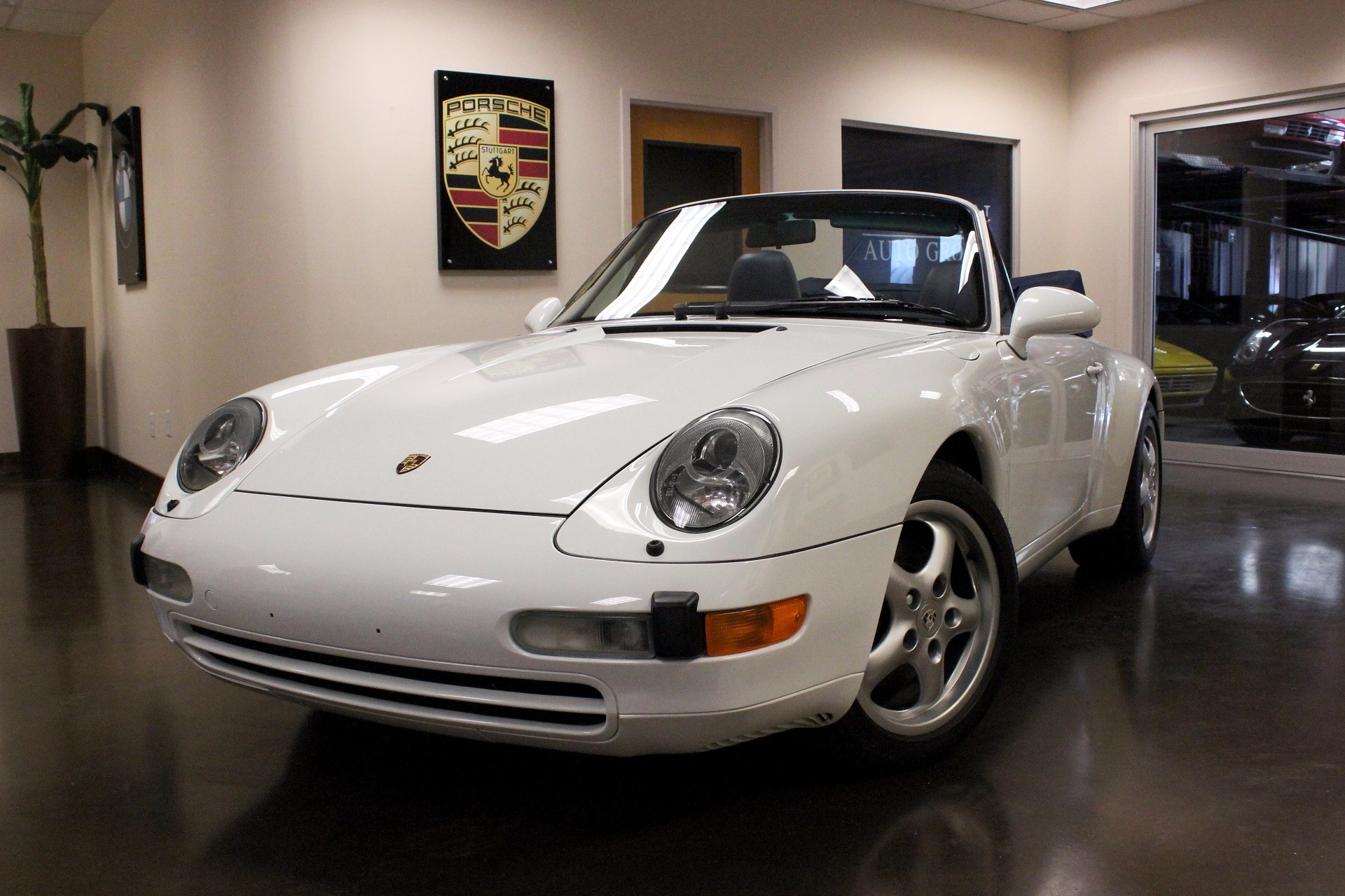 1995 porsche 911 24806 miles grand prix white convertible h6 manual used porsche 911 for. Black Bedroom Furniture Sets. Home Design Ideas