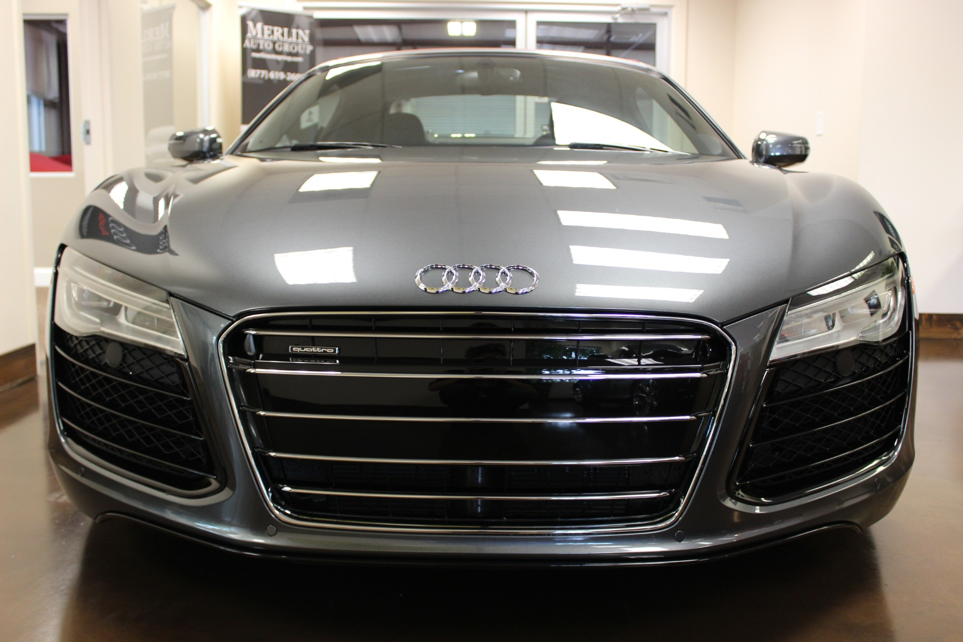 2015 audi r8 grey convertible v10 a used audi r8 for sale in atlanta georgia used car. Black Bedroom Furniture Sets. Home Design Ideas
