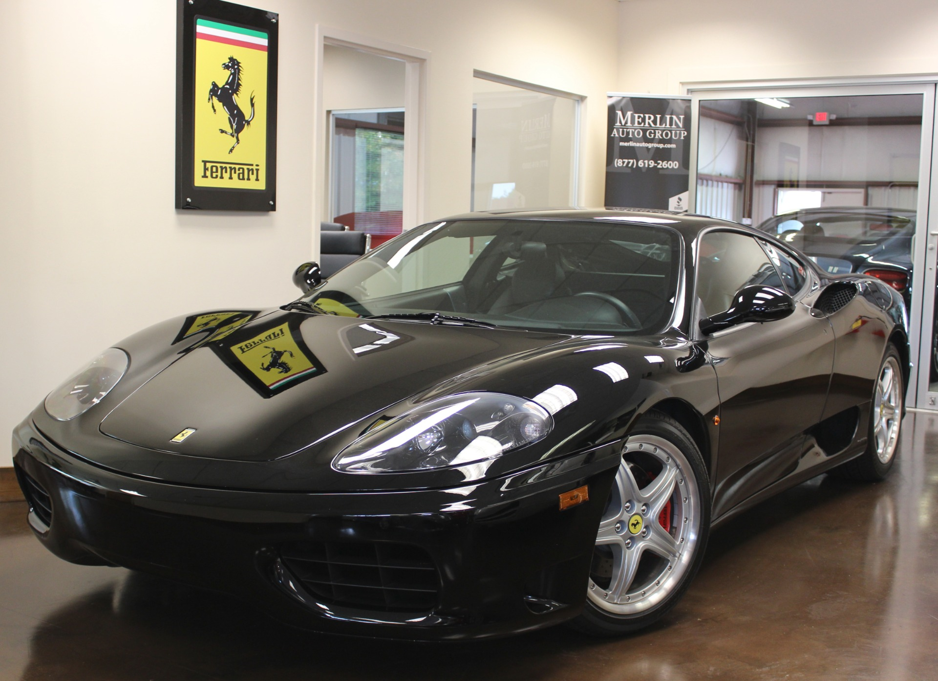 used 2003 ferrari 360 modena stock p3204 ultra luxury car from merlin auto group. Black Bedroom Furniture Sets. Home Design Ideas