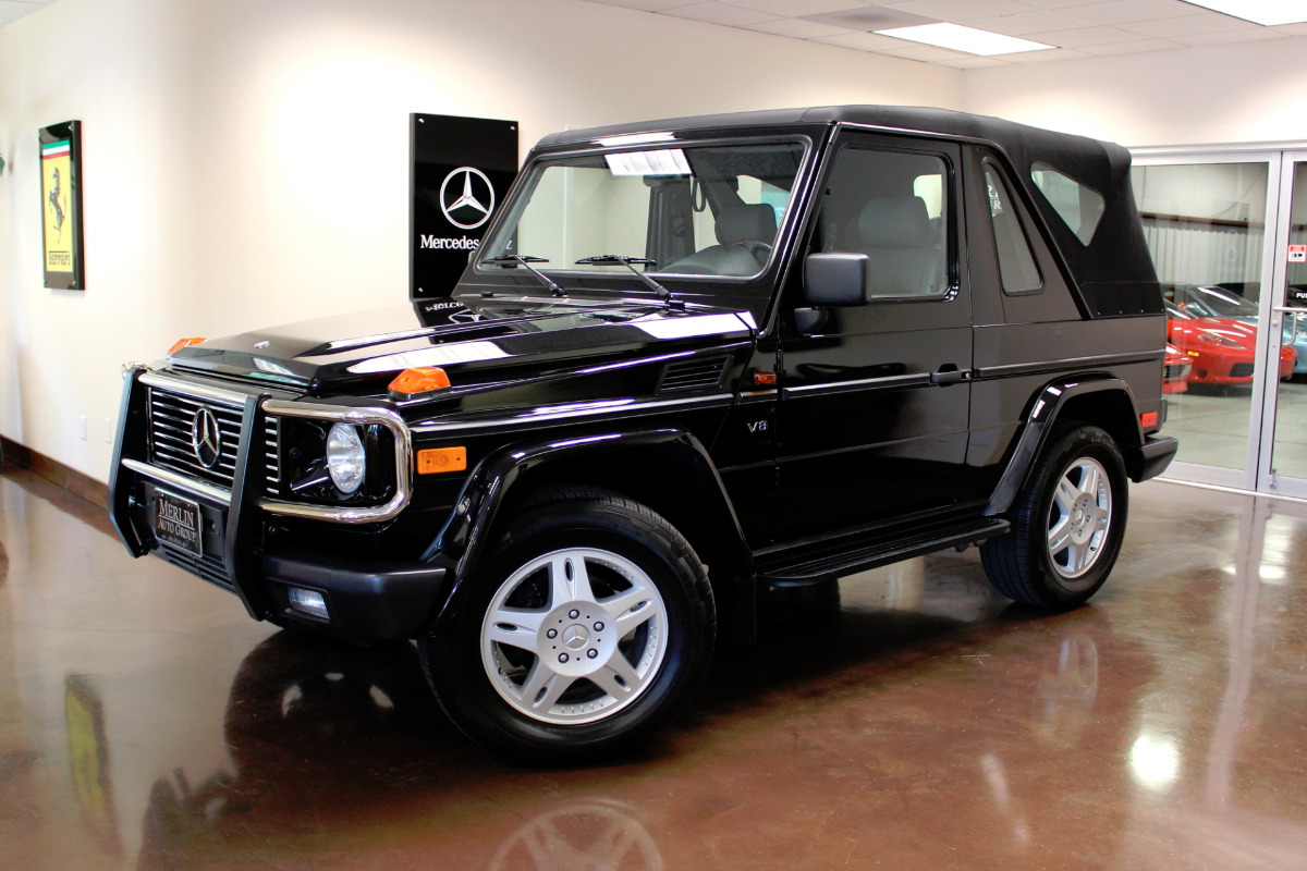 Used 2000 mercedes benz g500 cabriolet stock p2803 ultra for Used mercedes benz g500