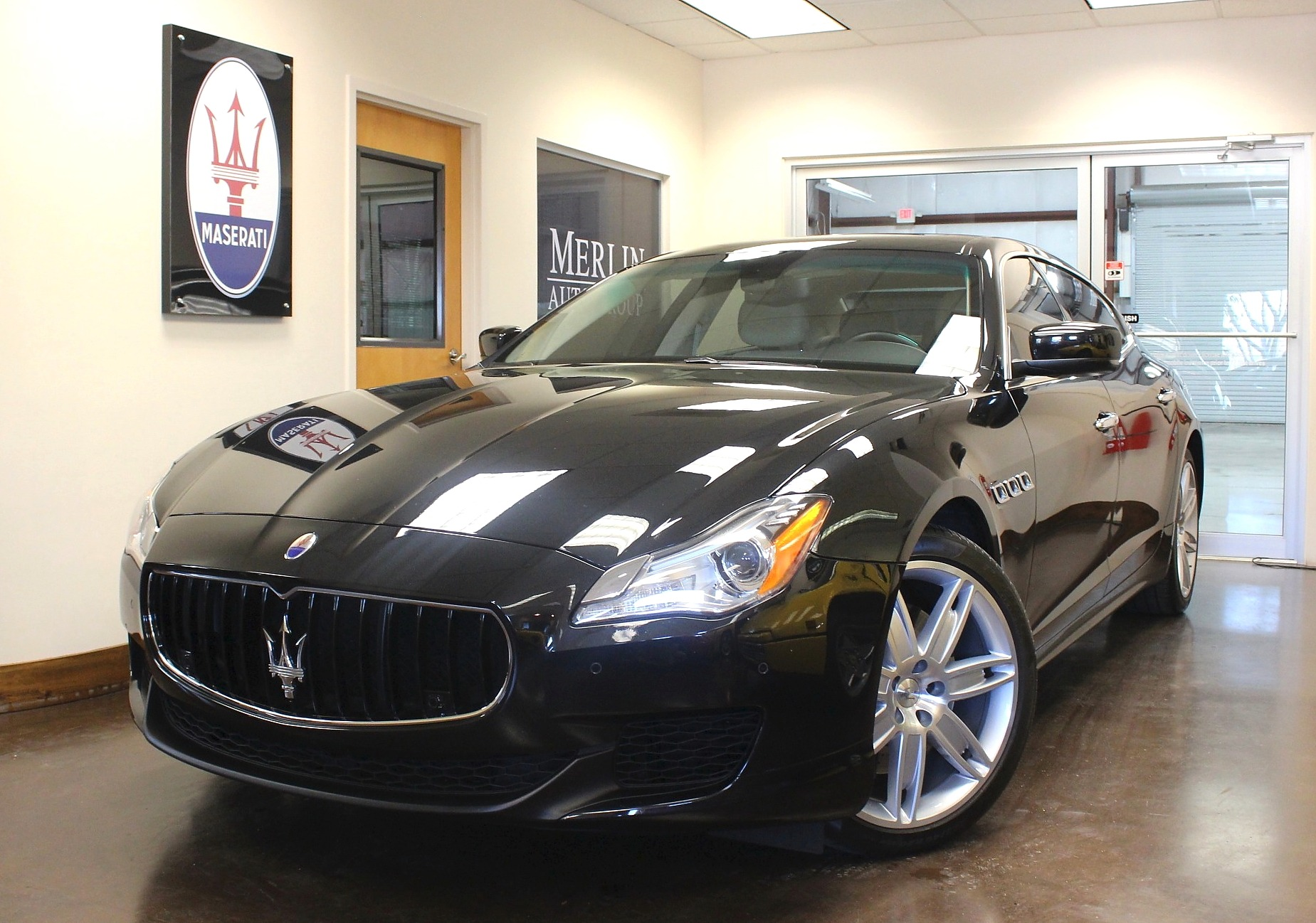 used 2015 maserati quattroporte stock p3419a ultra luxury car from merlin auto group. Black Bedroom Furniture Sets. Home Design Ideas