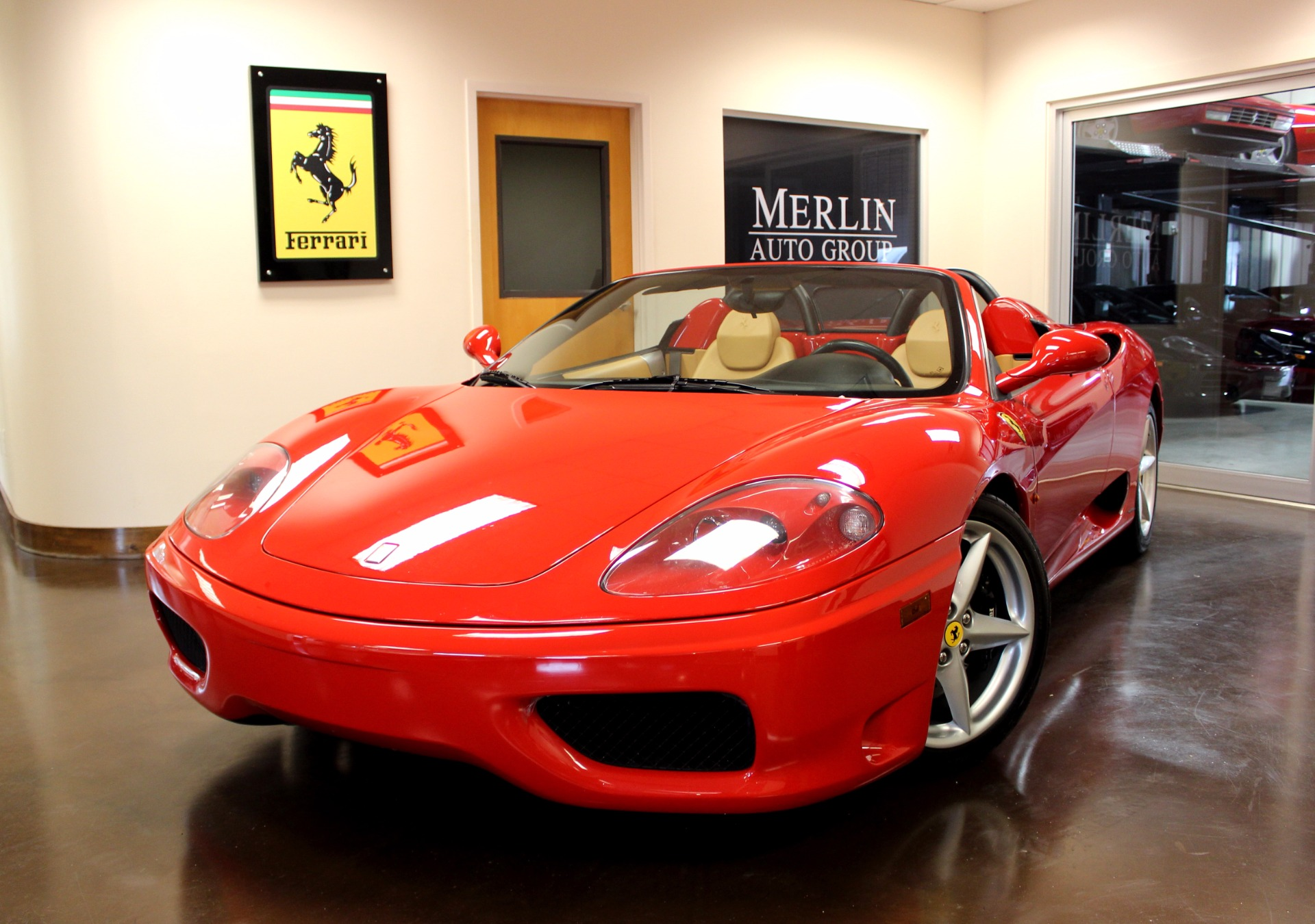 used 2005 ferrari 360 stock p3660 ultra luxury car from merlin auto group. Black Bedroom Furniture Sets. Home Design Ideas