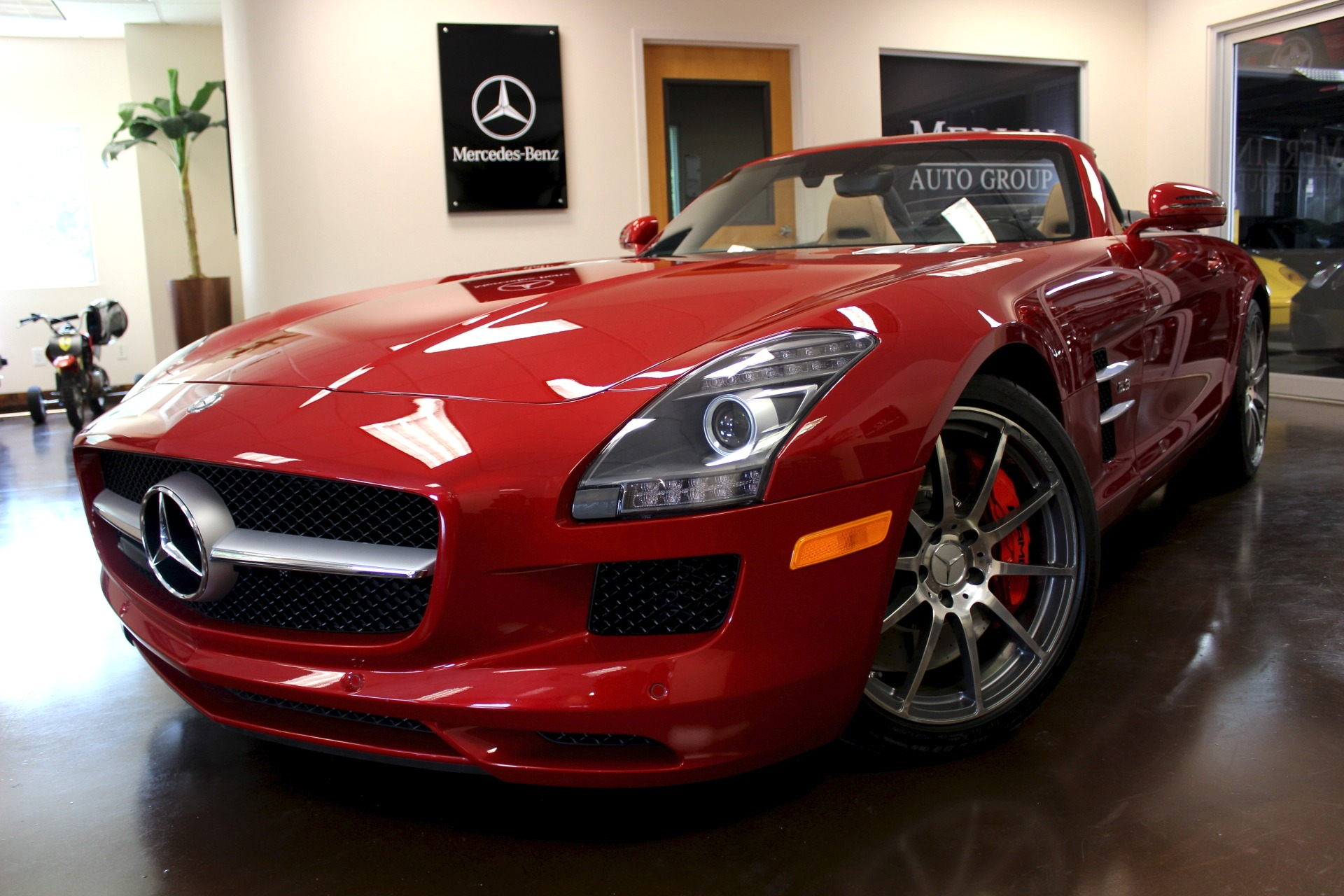 used 2012 mercedes benz sls stock p3669 ultra luxury car from merlin auto group. Black Bedroom Furniture Sets. Home Design Ideas