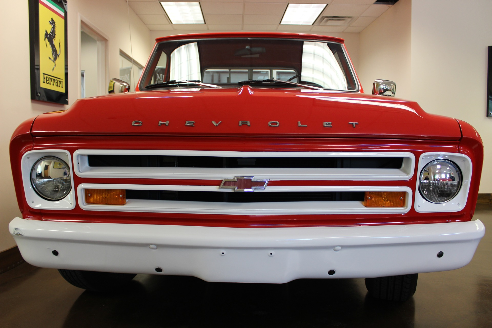 used 1967 chevrolet c10 red truck 350 v8 3 speed manual used chevrolet c 10 for sale in. Black Bedroom Furniture Sets. Home Design Ideas