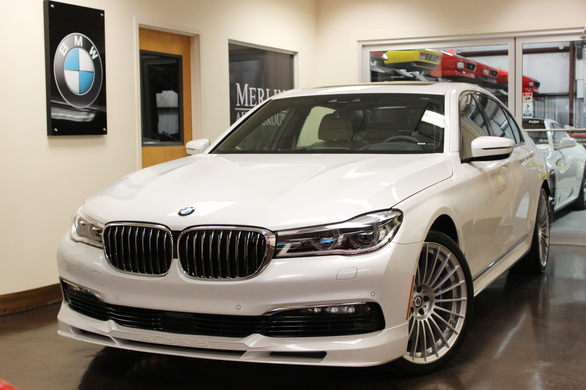 used 2018 bmw alpina b7 stock p4157c ultra luxury car from merlin auto group. Black Bedroom Furniture Sets. Home Design Ideas