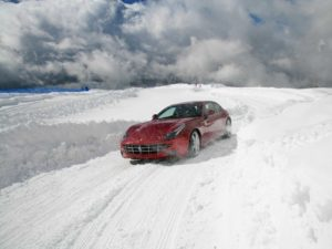 Ferrari in snow